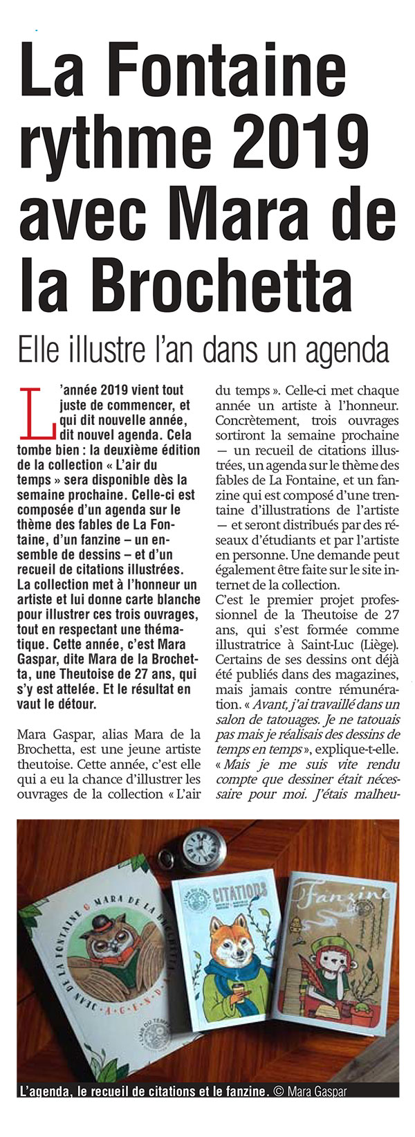 Article la Meuse 2019 Mara